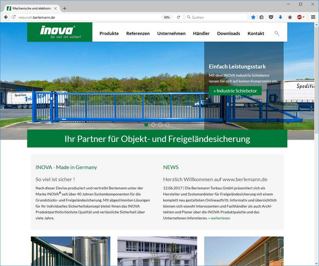Berlemann Website Screenshot