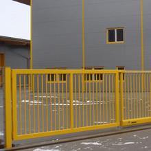 Drehflügeltor INOVA Industrie gelb von Berlemann Torbau Gmbh