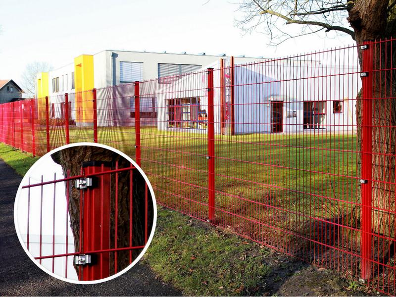 Doppelstabgitter INOVA rot von Berlemann Torbau GmbH