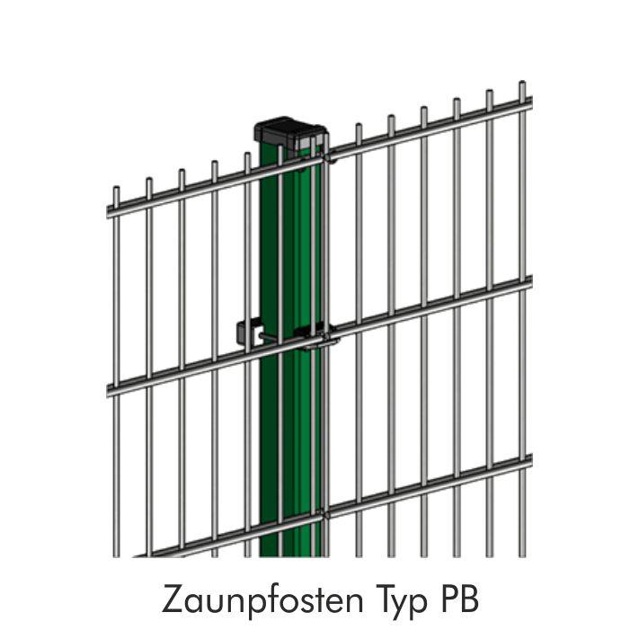 Zaunpfosten INOVA Basis Detailzeichnung von Berlemann Torbau GmbH