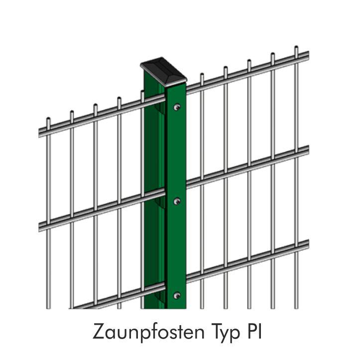 Zaunpfosten INOVA Industrie Detailzeichnung von Berlemann Torbau GmbH