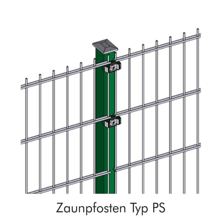 Zaunpfosten INOVA Standard Detailzeichnung von Berlemann Torbau GmbH
