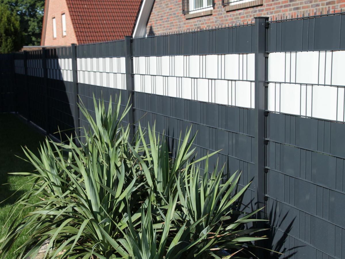 Sichtschutz Refugio-Flex INOVA zweifarbig Vorderansicht von Berlemann Torbau GmbH