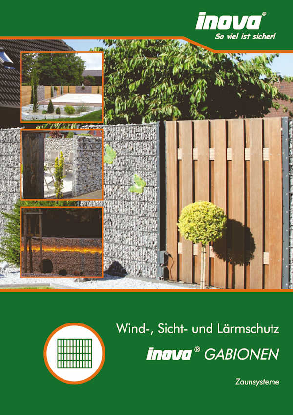 Prospekt INOVA Zaunsysteme Gabionen von Berlemann Torbau GmbH