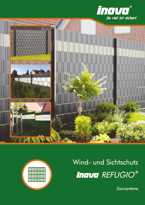Prospekt INOVA Zaunsysteme Sichtschutz von Berlemann Torbau GmbH