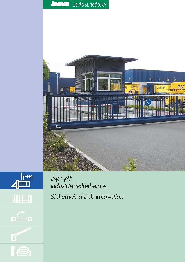 Prospekt INOVA Schiebetor Industrie von Berlemann Torbau GmbH